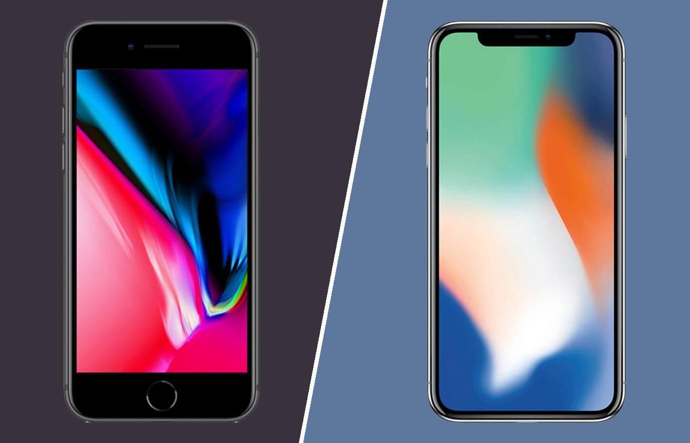 Verschil iPhone 8 en iPhone X