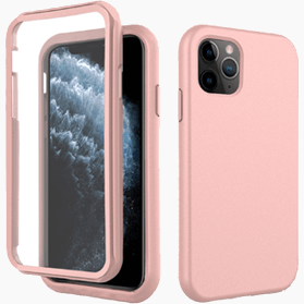 iPhone 11 Pro screenprotector & roze hoes
