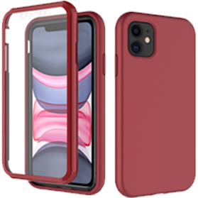 iPhone 11 rode hoes met screenprotector