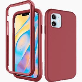 iPhone 12 Mini screenprotector & hoes rood