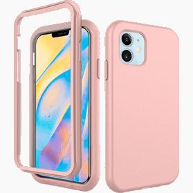 iPhone 12 Mini screenprotector & hoes roze