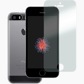 iPhone SE (2016) screenprotector en hoesje transparant