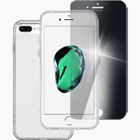 iPhone 7 Plus iPhone 8 Plus screenprotector en hard transparant hoesje