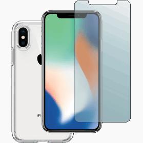 iPhone X screenprotector en transparant hoesje