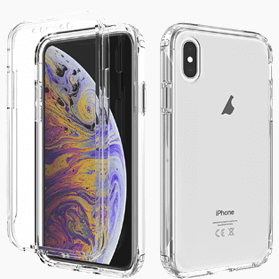 iPhone X/XS screenprotector & hoes transparant