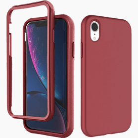 iPhone XR screenprotector & hoes rood