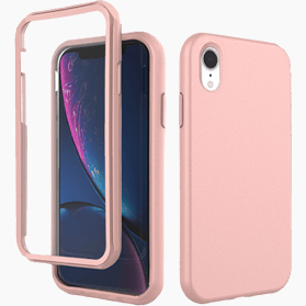 iPhone XR screenprotector & hoes roze