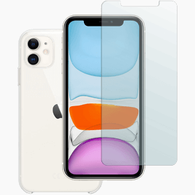 iPhone 11 screenprotector en hoesje transparant
