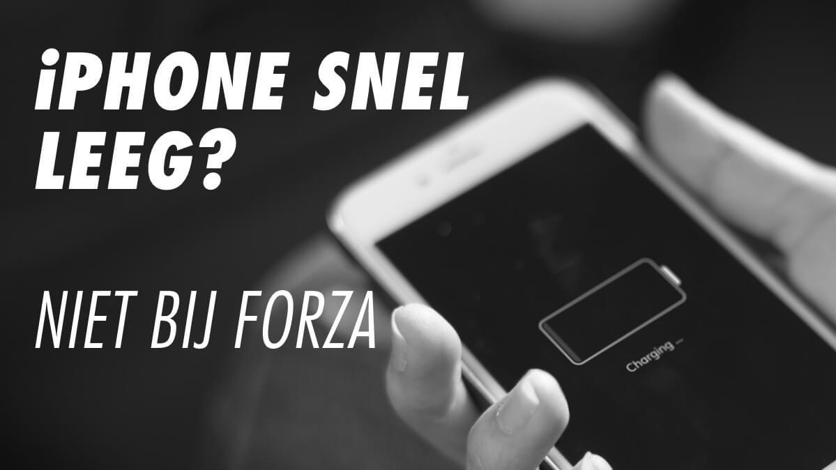 accu refurbished iphone bij forza gaat langer mee