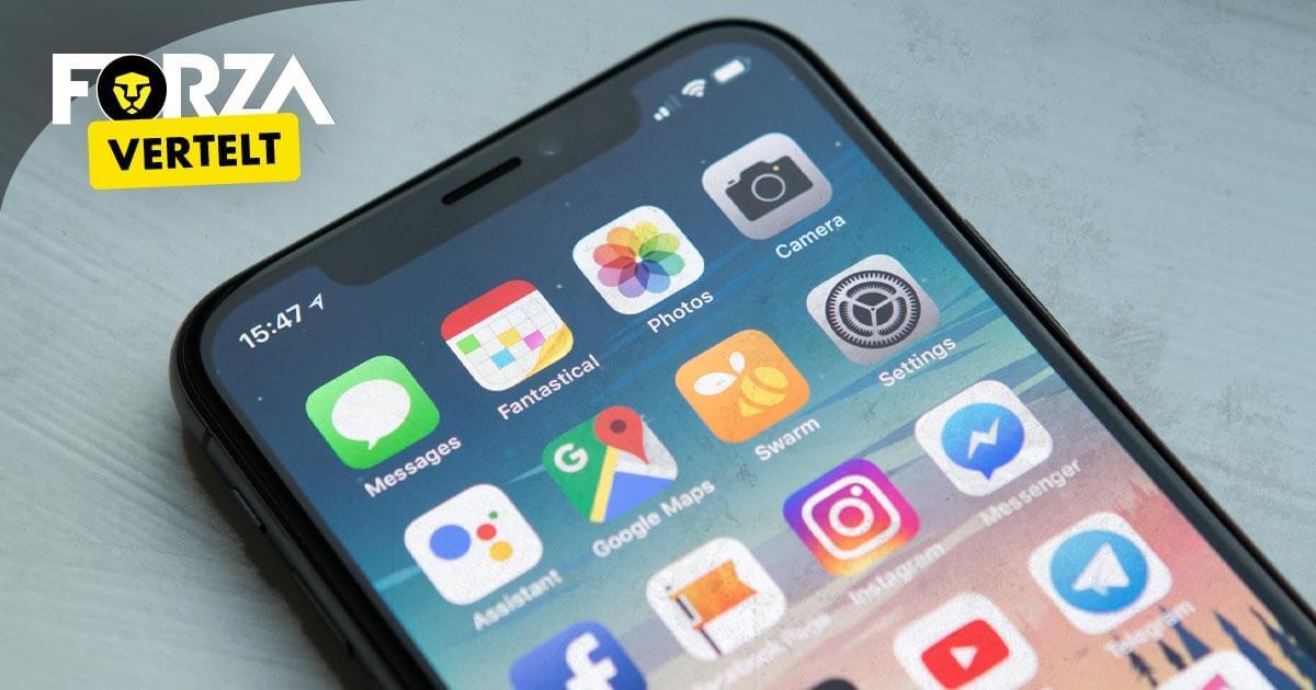 app verdwenen op iPhone