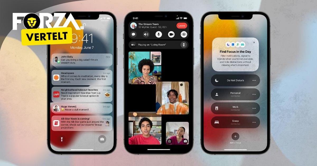 iOS 15, deze functies komen naar je iPhone