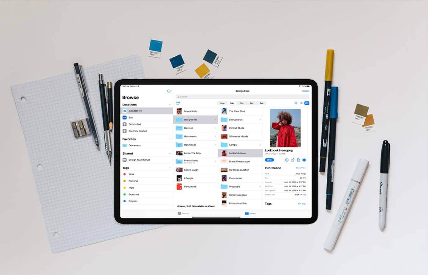 Vernieuwde Bestanden-app iPad