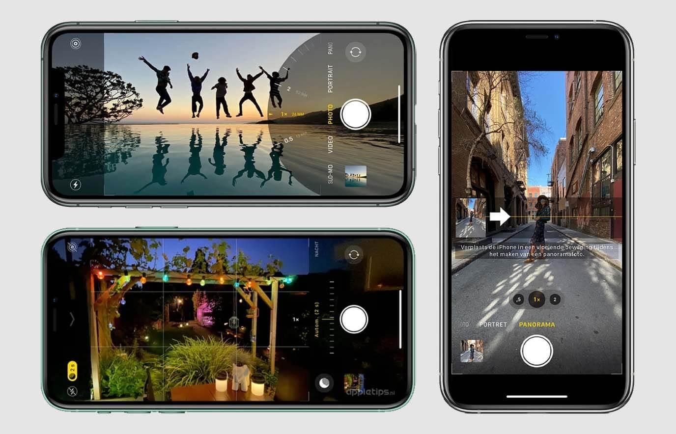 Alles over de iPhone-camerafuncties