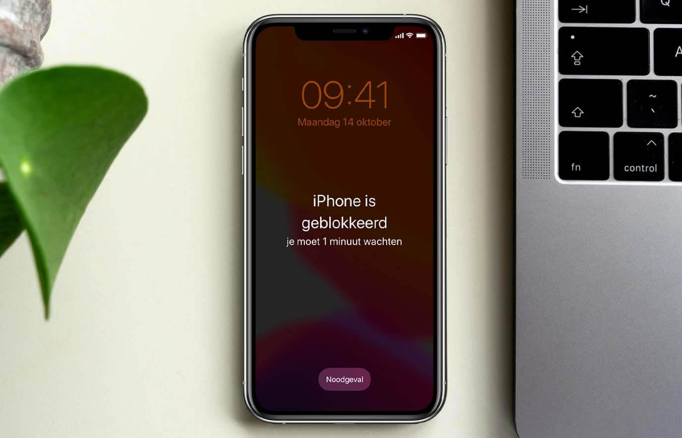 iPhone of iPad geblokkeerd na foute toegangscode