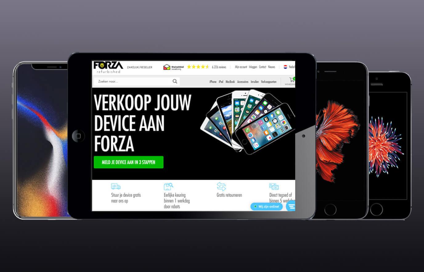 iPhone & iPad verkopen aan Forza voor geld
