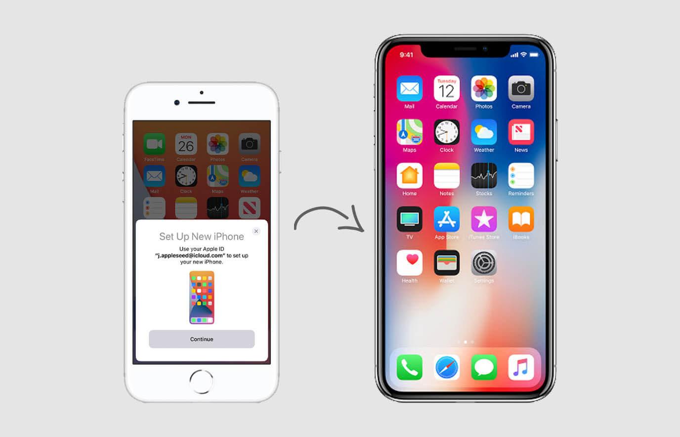iPhone installeren via Quick Start