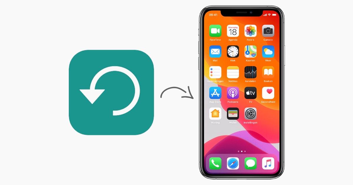 Reservekopie iPhone terugzetten