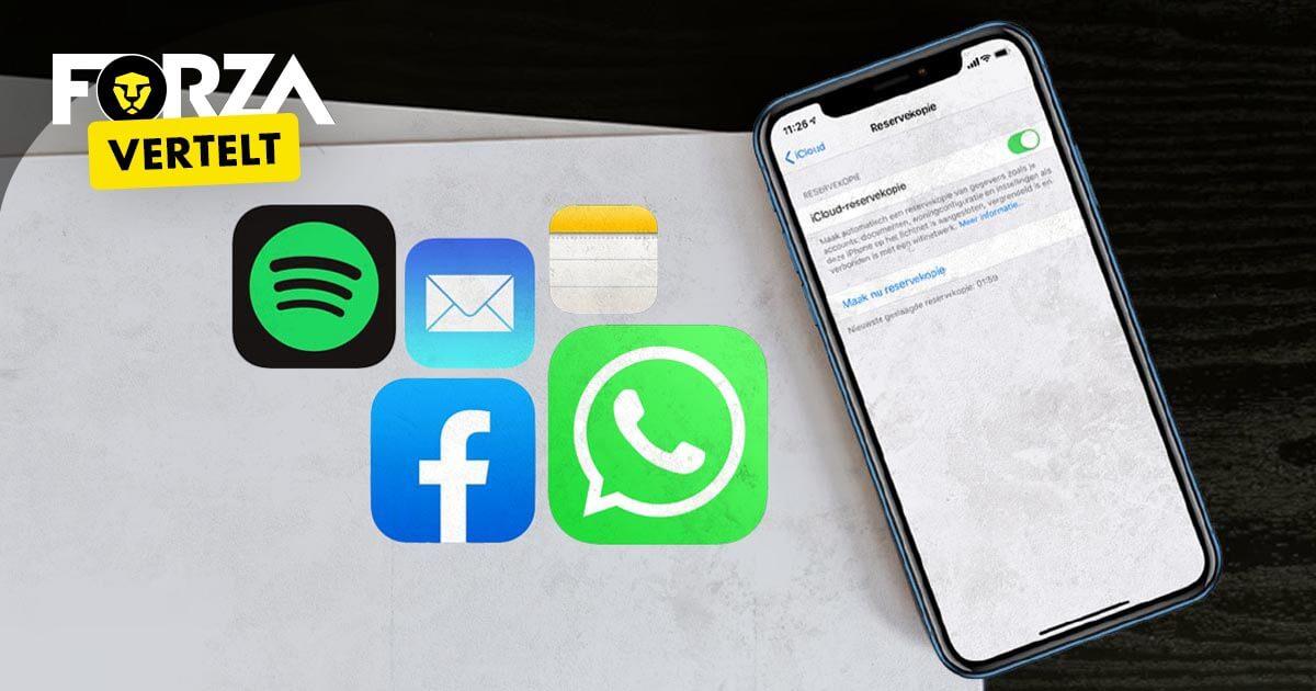 Reservekopie maken iPhone