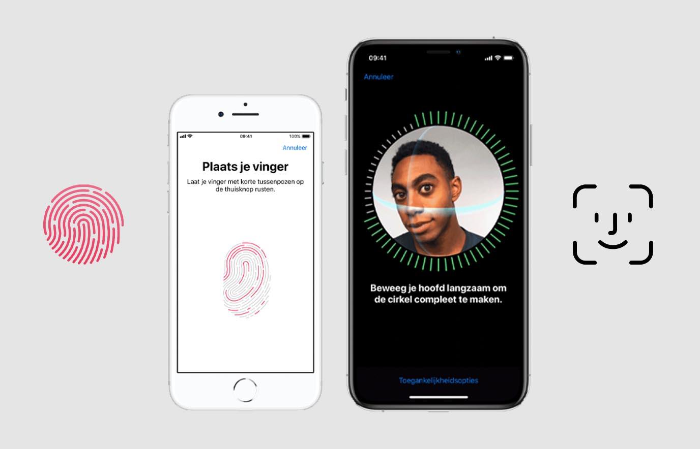 Verschil Touch ID en Face ID