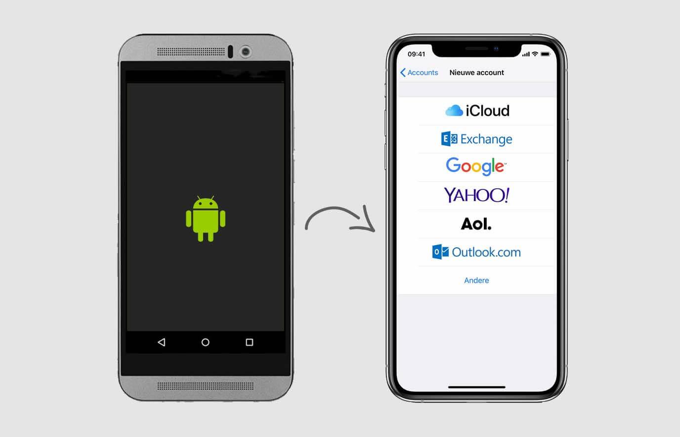 Android naar iOS via Google-account