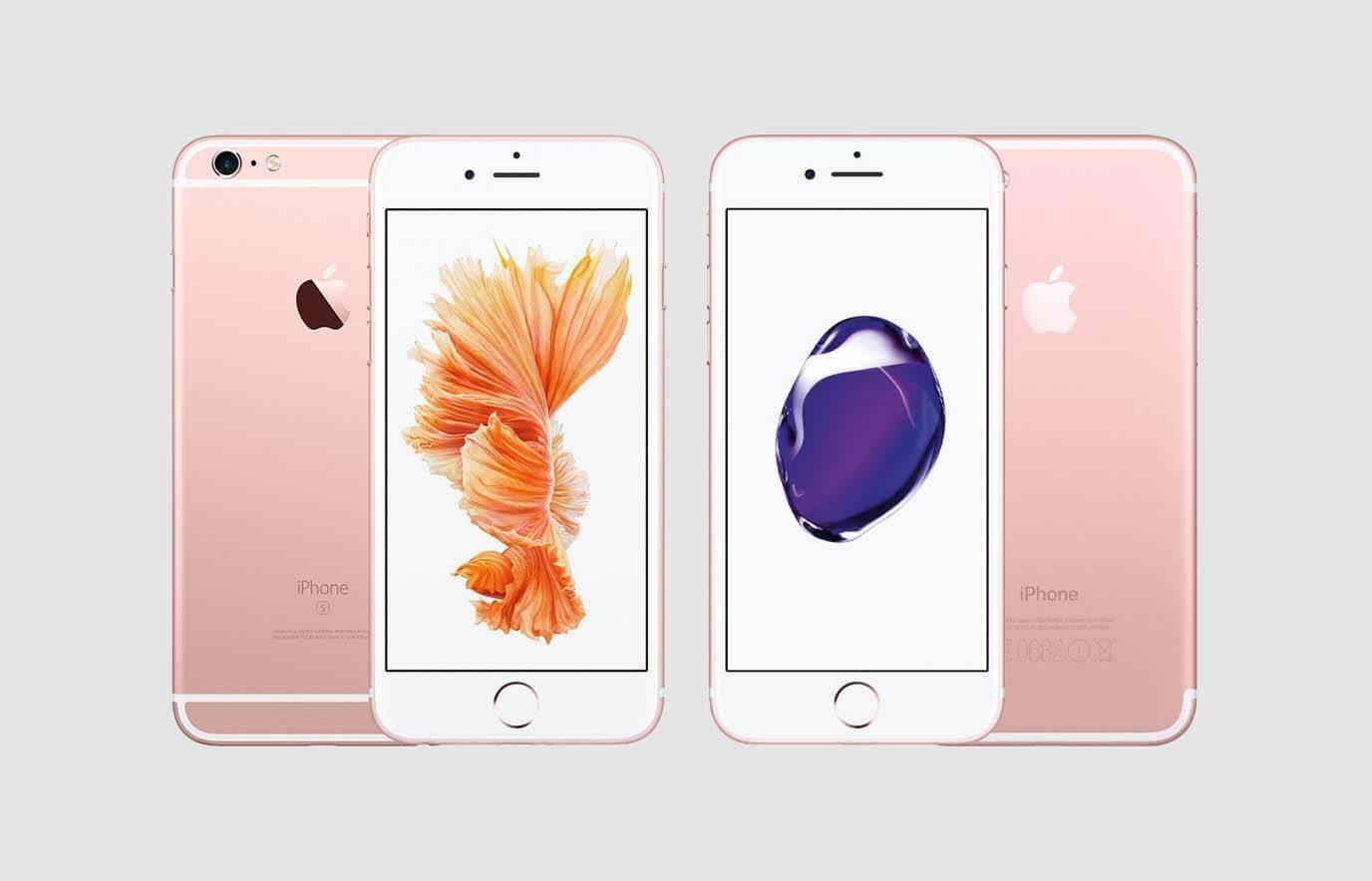 Het verschil tussen de iPhone 6S en de iPhone 7?