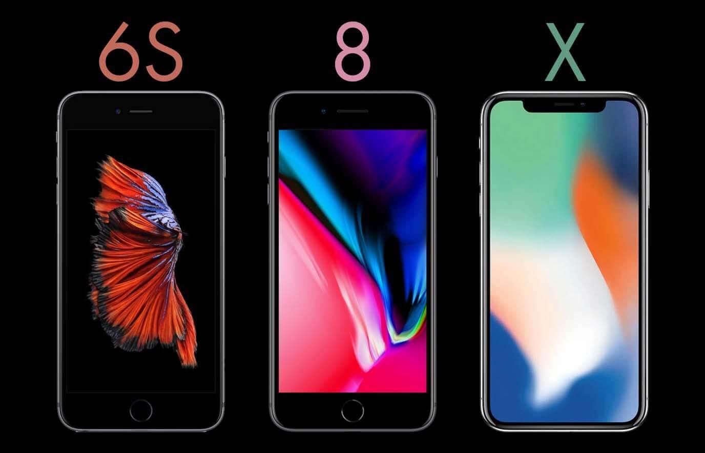 iPhone 6S, iPhone 8 en iPhone X overeenkomsten en verschillen