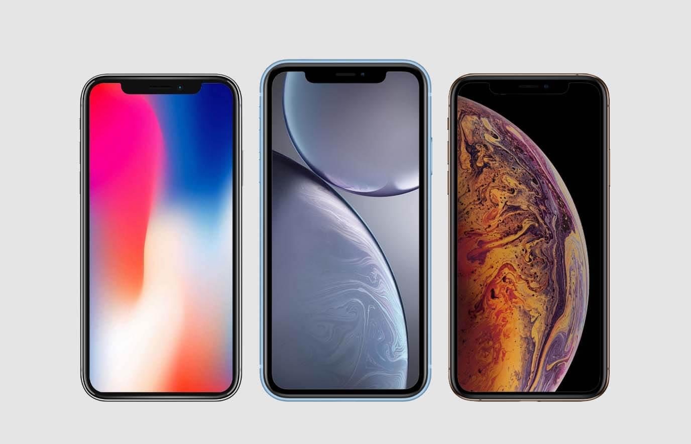 Verschil tussen iPhone X, iPhone XS en iPhone XR