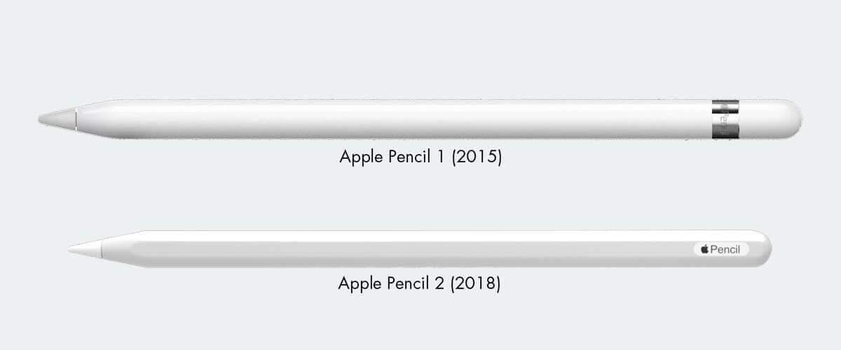 Apple Pencil 1 en Apple Pencil 2