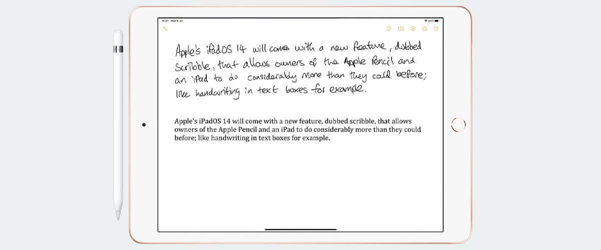 Scribble handschriftherkenning voor Apple Pencil