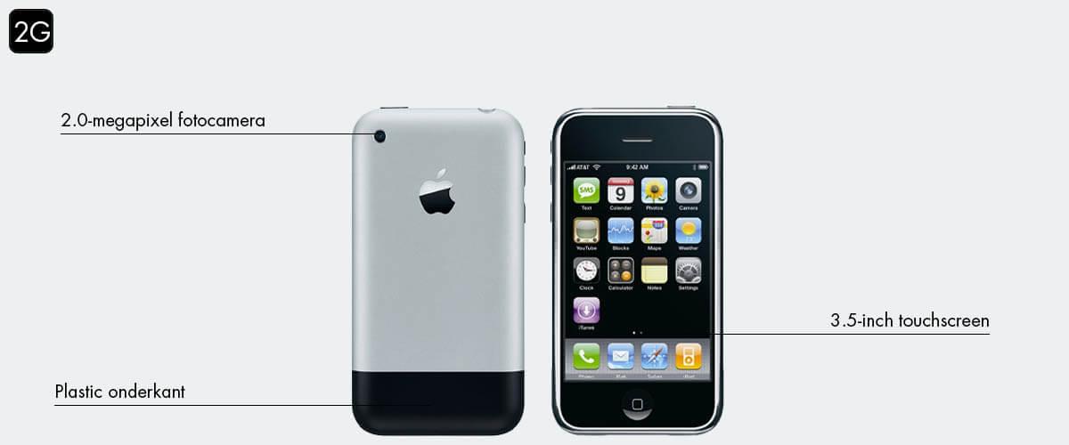Geschiedenis iPhone: iPhone 2G