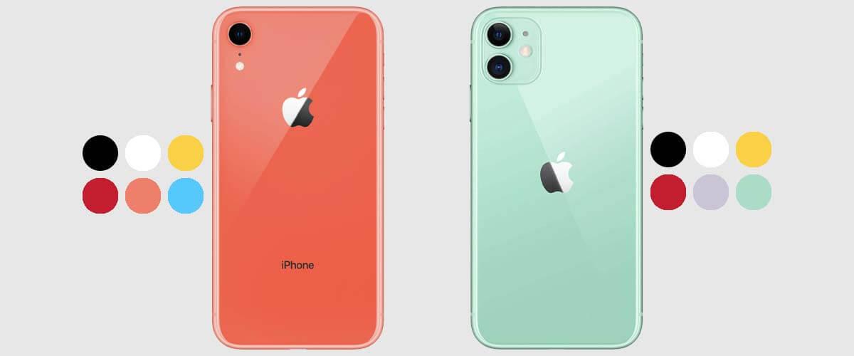 Kleuren iPhone XR en iPhone 11