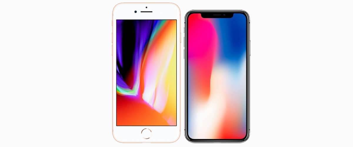 display iPhone 8 en iPhone X