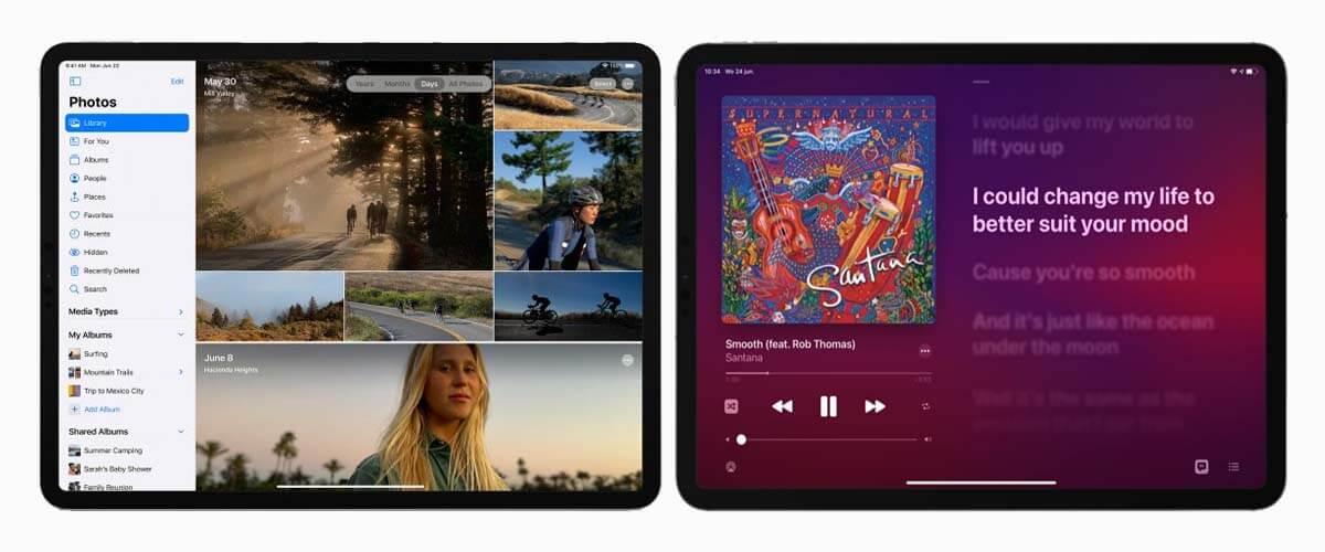 nieuw ontwerp Foto-app en Muziek-app iPadOS 14