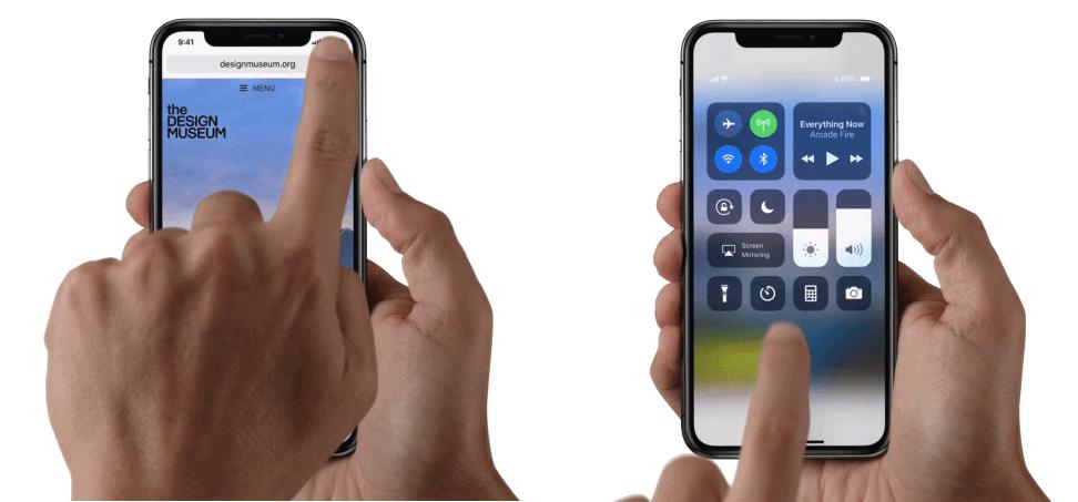 iPhone X bedieningspaneel