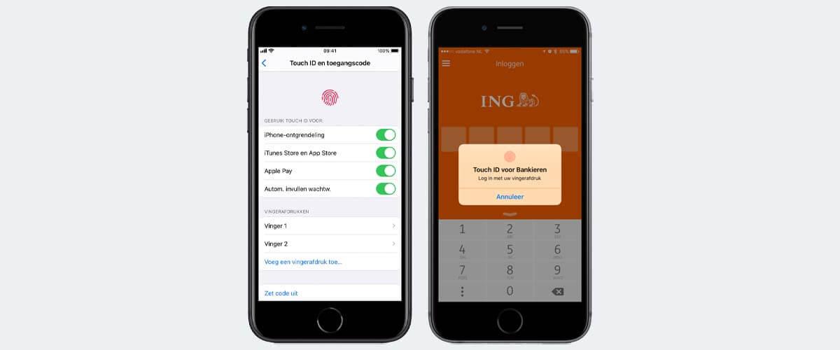 Touch ID op iPhone gebruiken