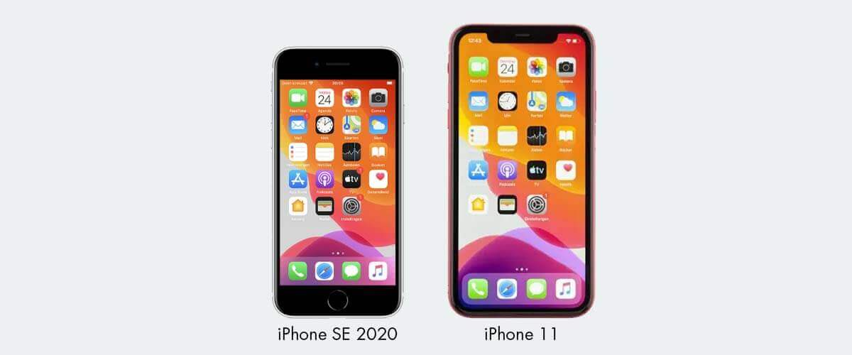 Beeldscherm iPhone SE 2020 en iPhone 11