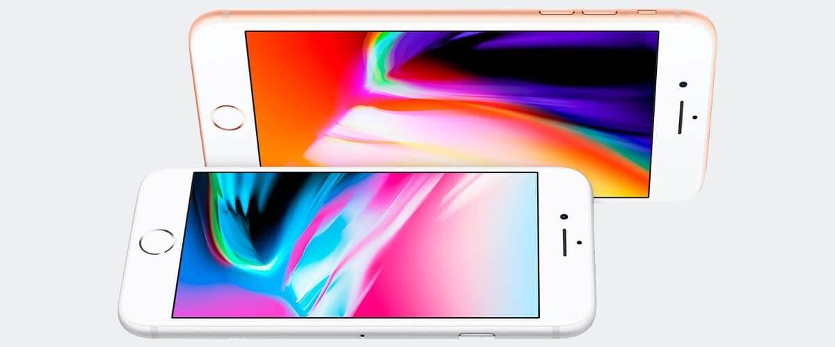 Beeldschermverschil iPhone 8 en 8 Plus