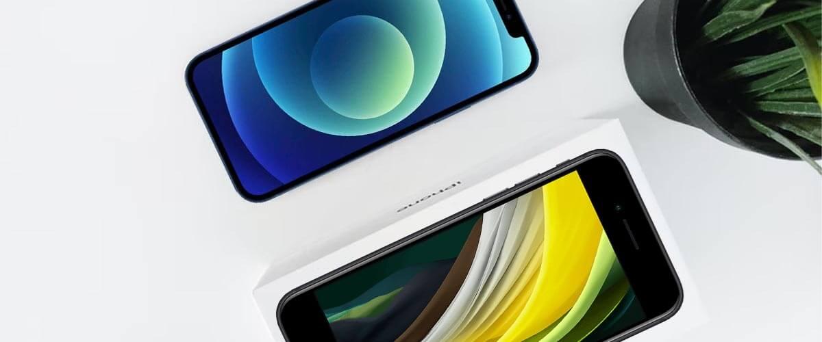 Beeldschermverschil iPhone SE 2020 vs iPhone 12 Mini