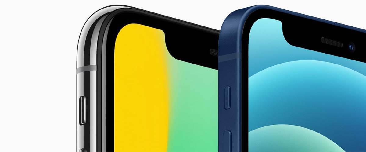 Beeldscherm verschil iPhone X vs iPhone 12
