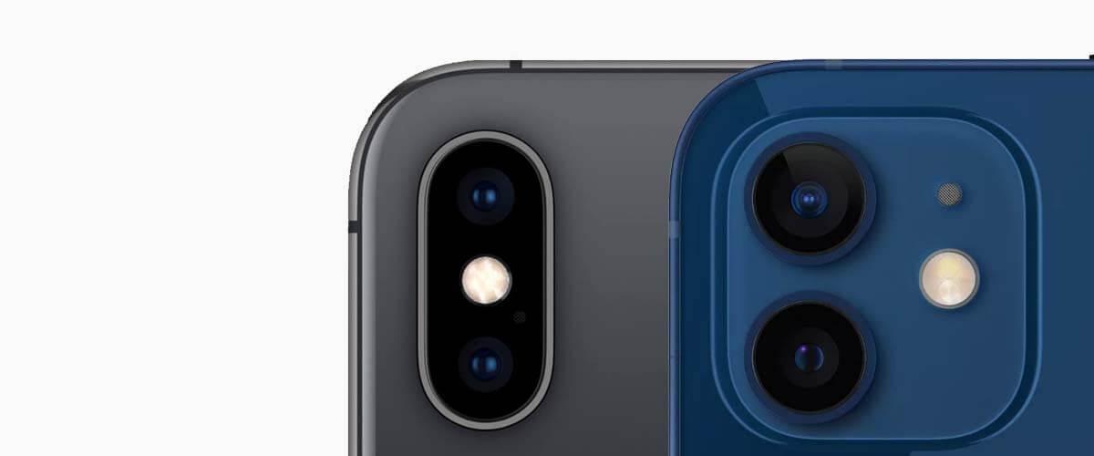 Camera verschil iPhone X vs iPhone 12