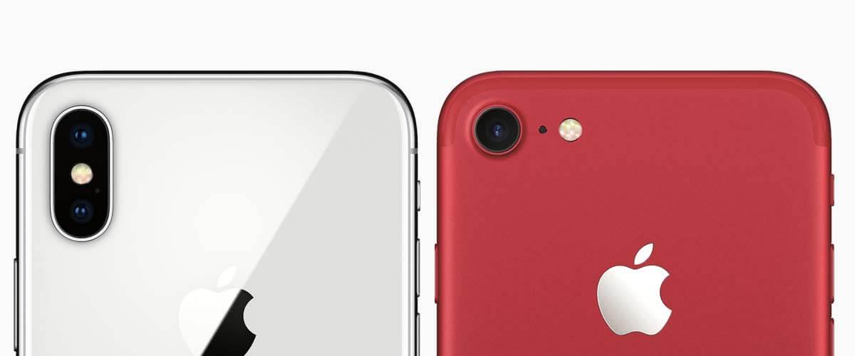 Camera verschil iPhone X vs iPhone 7