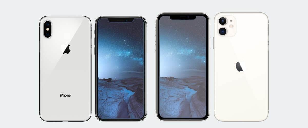 Design en formaat verschil iPhone X en 11