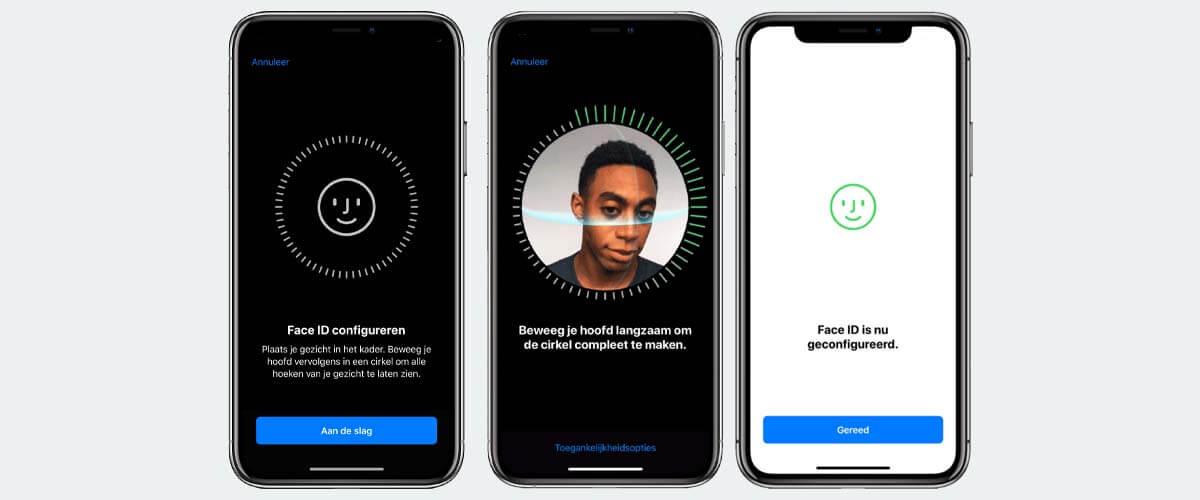 Face ID iPhone instellen