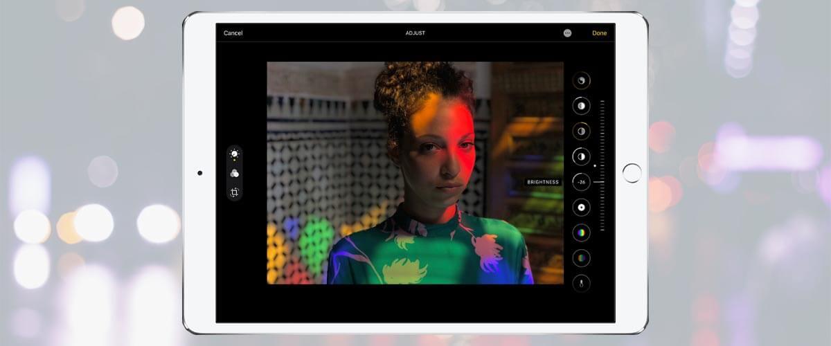Foto bewerken iPad 2020