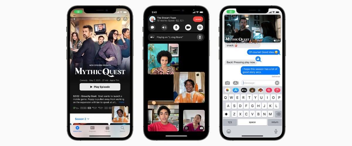 iOS 15 FaceTime en SharePlay
