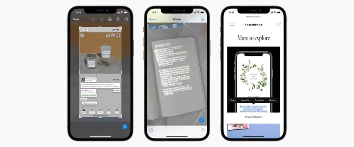 Live Tekst iOS 15