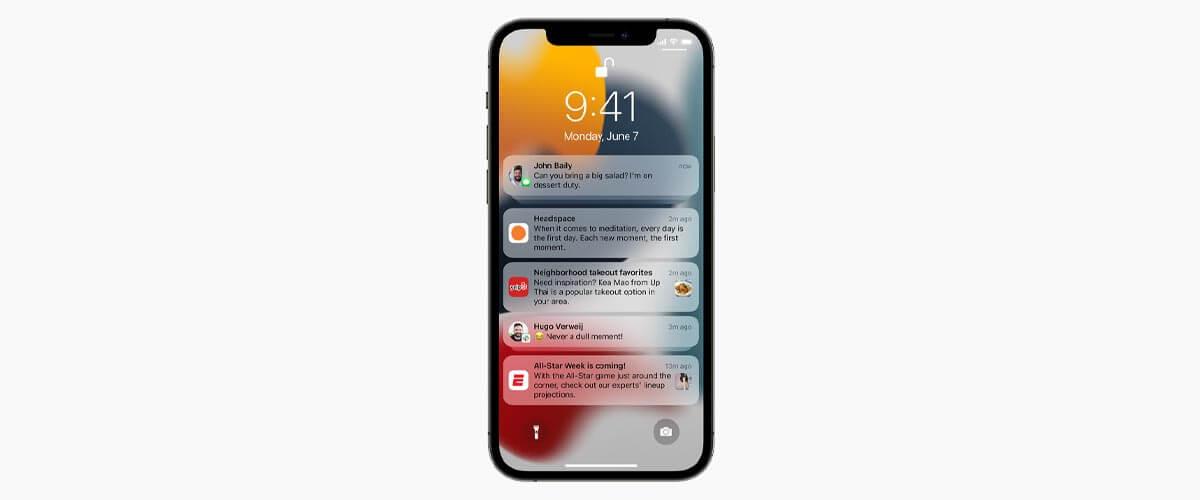 Nieuwe meldingen iOS 15
