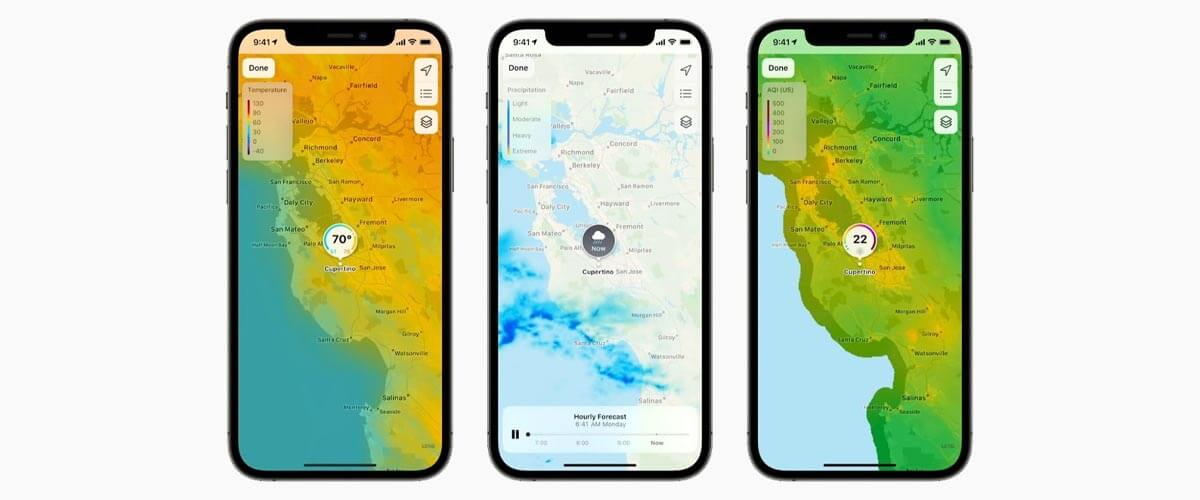 Weer-app iOS 15