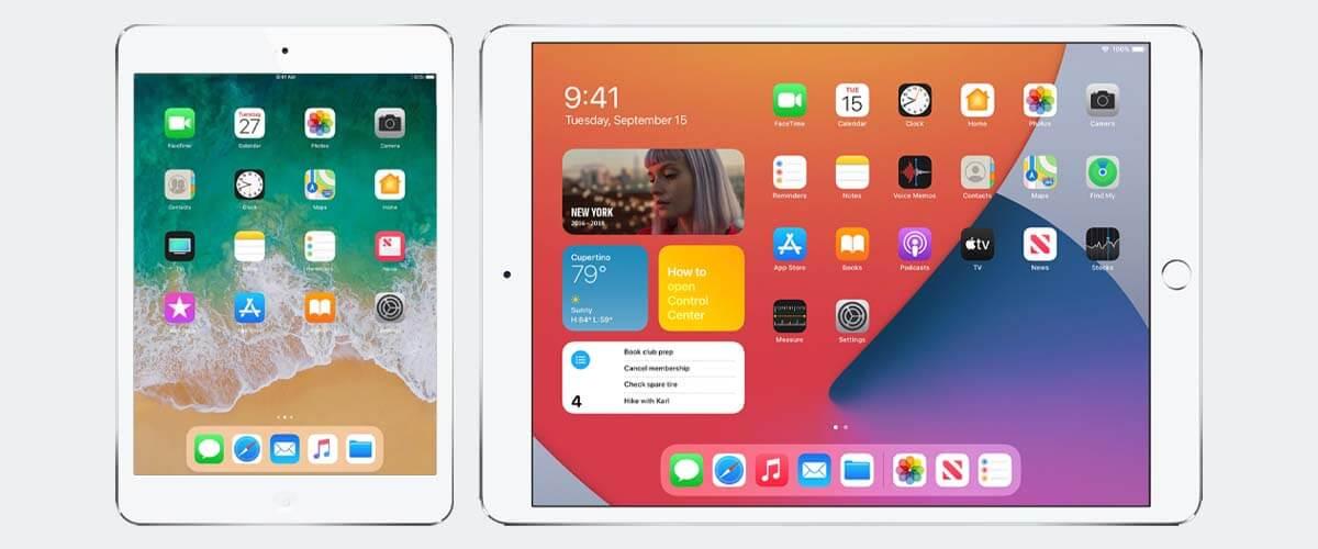 iOS iPad Air 1 en iPadOS iPad Air 2