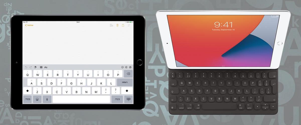 iPad 2018 vs 2020 toetsenbord